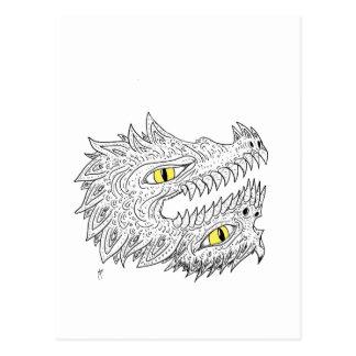 Double Dragon Postcard