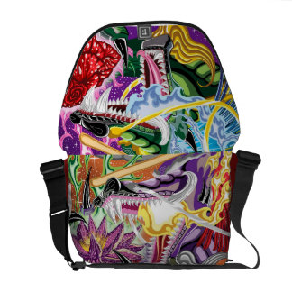 Double Dragon Rickshaw Messenger Bag