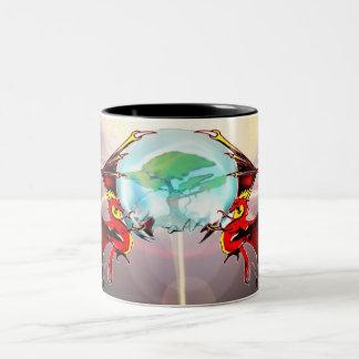double dragon Two-Tone coffee mug