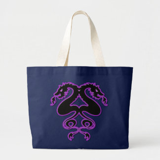 Double Dragons Large Tote Bag