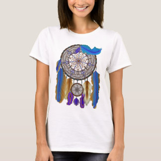 double dream catcher in blue yellow T-Shirt