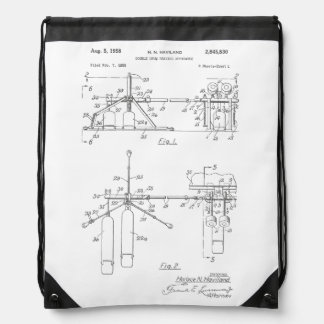 Double Drum Beating Apparatus Backpacks