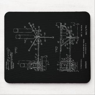Double Drum Beating Apparatus Mouse Pad