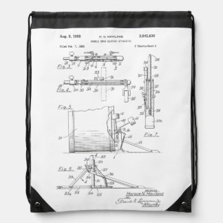 Double Drum Beating Apparatus pg 2 Drawstring Bag