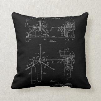Double Drum Beating Apparatus Throw Pillow