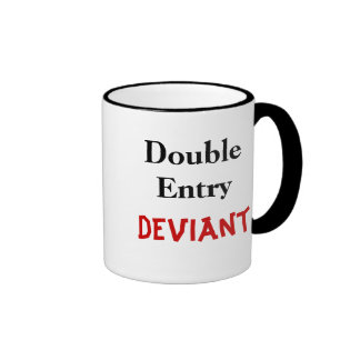 Double Entry Deviant Mugs