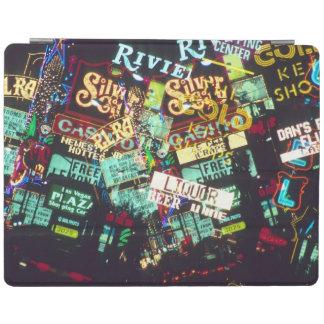 Double exposure, casino signs, Las Vegas, iPad Cover