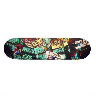 Double exposure, casino signs, Las Vegas, Skateboard Decks