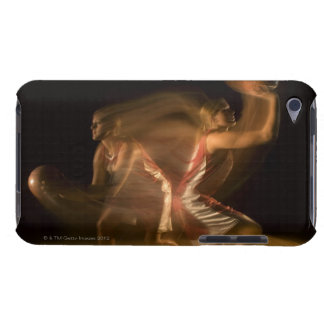 Double exposure of woman playing basketball barely there iPod case