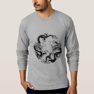 Double Fighting Chinese Dragon Tee