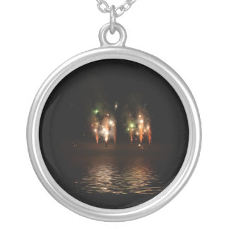 Double Fireworks Fun Personalized Necklace
