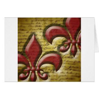 Double Fleur de Lis Card