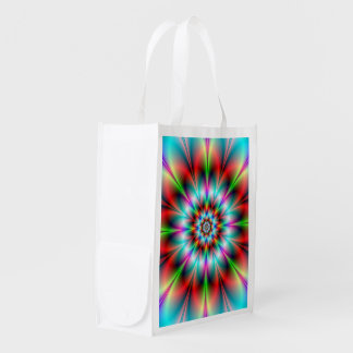 Double Flower Grocery Bag