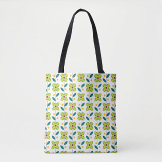 Double Flower Pattern Tote Bag