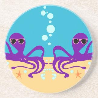 Double Groovy Octopus Coaster