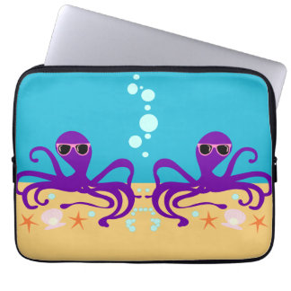 Double Groovy Octopus Laptop Sleeves
