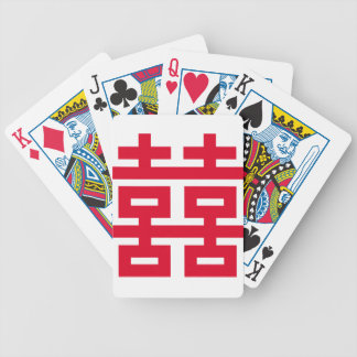 Double Happiness Bicycle Playing Cards