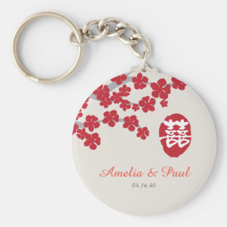 Double Happiness Chinese Wedding Keychain