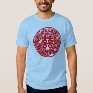 Double Happiness Dragon Phoenix T Shirt