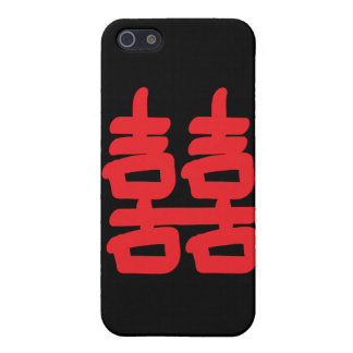 Double Happiness in Red iPhone 5/5S Case