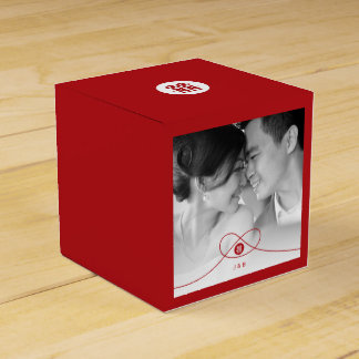 Double Happiness Knot Chinese Wedding Favor Box Favour Boxes