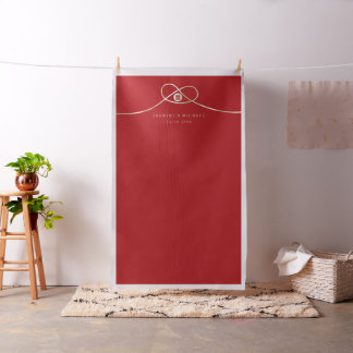 Double Happiness Knot Wedding Photo Backdrop Cloth