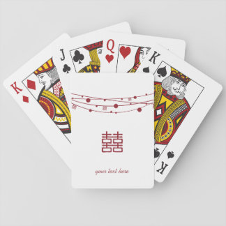 Double Happiness Lanterns Personalize Playing Card