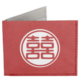 Double Happiness • Round Tyvek Wallet