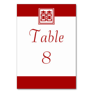 Double Happiness • Square Table Card