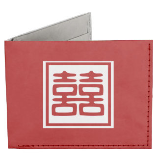 Double Happiness • Square Tyvek® Billfold Wallet