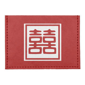 Double Happiness • Square Tyvek® Card Case Wallet