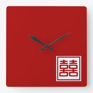 Double Happiness • Square Wallclock