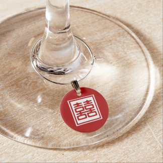 Double Happiness • Square Wine Charm