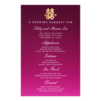 Double Happiness | Wedding Banquet Menu