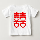 Double Happy Cute Couple Baby T-Shirt
