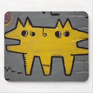 Double-headed dog street art mouse mat