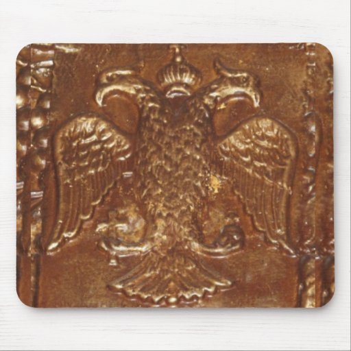 Double Headed Eagle Byzantine Empire Coat Of Arms Mouse Pad