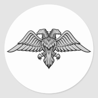 Double headed eagle classic round sticker