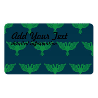 Double Headed Eagle Green Blue Pack Of Standard Business Cards