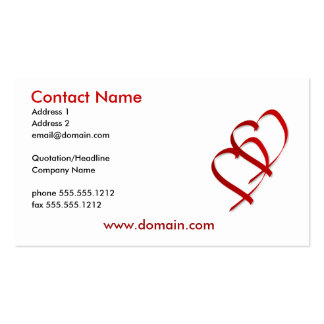 Double Heart Business Card