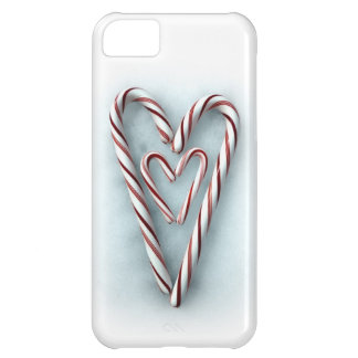 Double-Heart Candy Canes iPhone 5C Case