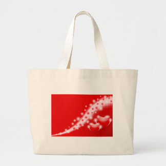 Double heart large tote bag