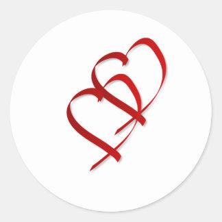 Double Heart Sticker