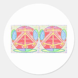Double HEARTH: Karuna Reiki Round Sticker