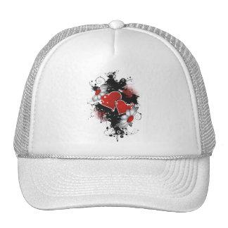 Double Hearts Daisies - Original Colors Hats