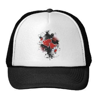 Double Hearts Daisies - Original Colors Mesh Hat