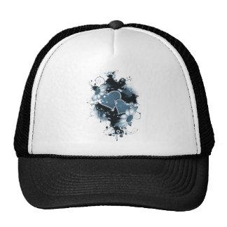 Double Hearts Flowers - Blue Hat