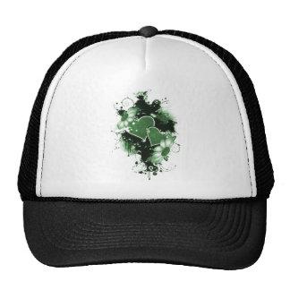 Double Hearts Flowers - Green Hats