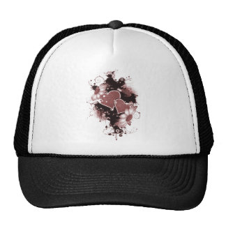 Double Hearts Flowers - Red Hats