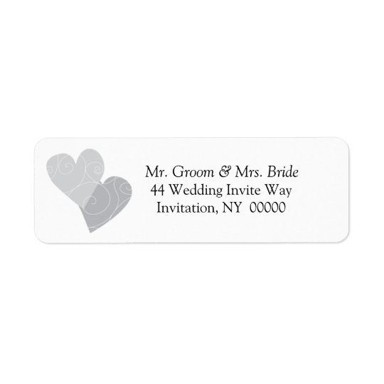 Double Hearts Return Address Label Stickers